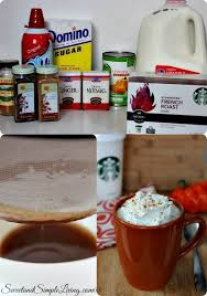 Mcdonalds Pumpkin Spice Latte Ingredients by Pumpkin Spice Latte Copycat Recipe Sweet And Simple Living