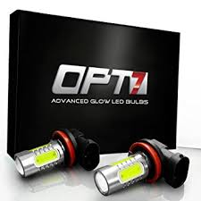 opt7 show glow h11 led fog light bulbs plasma cob