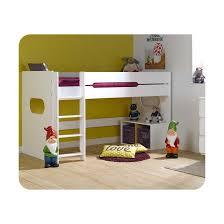 ma chambre d enfants lit enfant mi hauteur spark 90x200 cm blanc ma chambre d enfant la