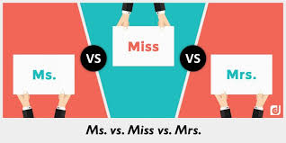 Difference Between Ms Miss And Mrs
