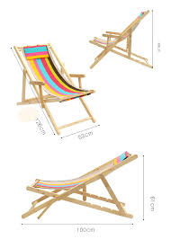 simple foldable portable beach chair solid canvas oak wooden