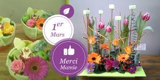 vitrine fete des meres fleuriste dimancher 1er mars c est la fête des grand mères le tulipier