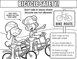 Coloring Bicycle Safety New Picture Bike Pages