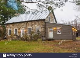 100 Fieldstone Houses Quebec Style House Stock Photos Quebec Style House Stock