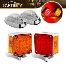 100 Peterbilt Trucks For Sale On Ebay 2x 52LED RedAmber Stop Turn Tail Light 2x Side Marker Lamp