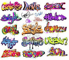 Follow You And Other Word Designs In Graffiti Style Urban Art Vector