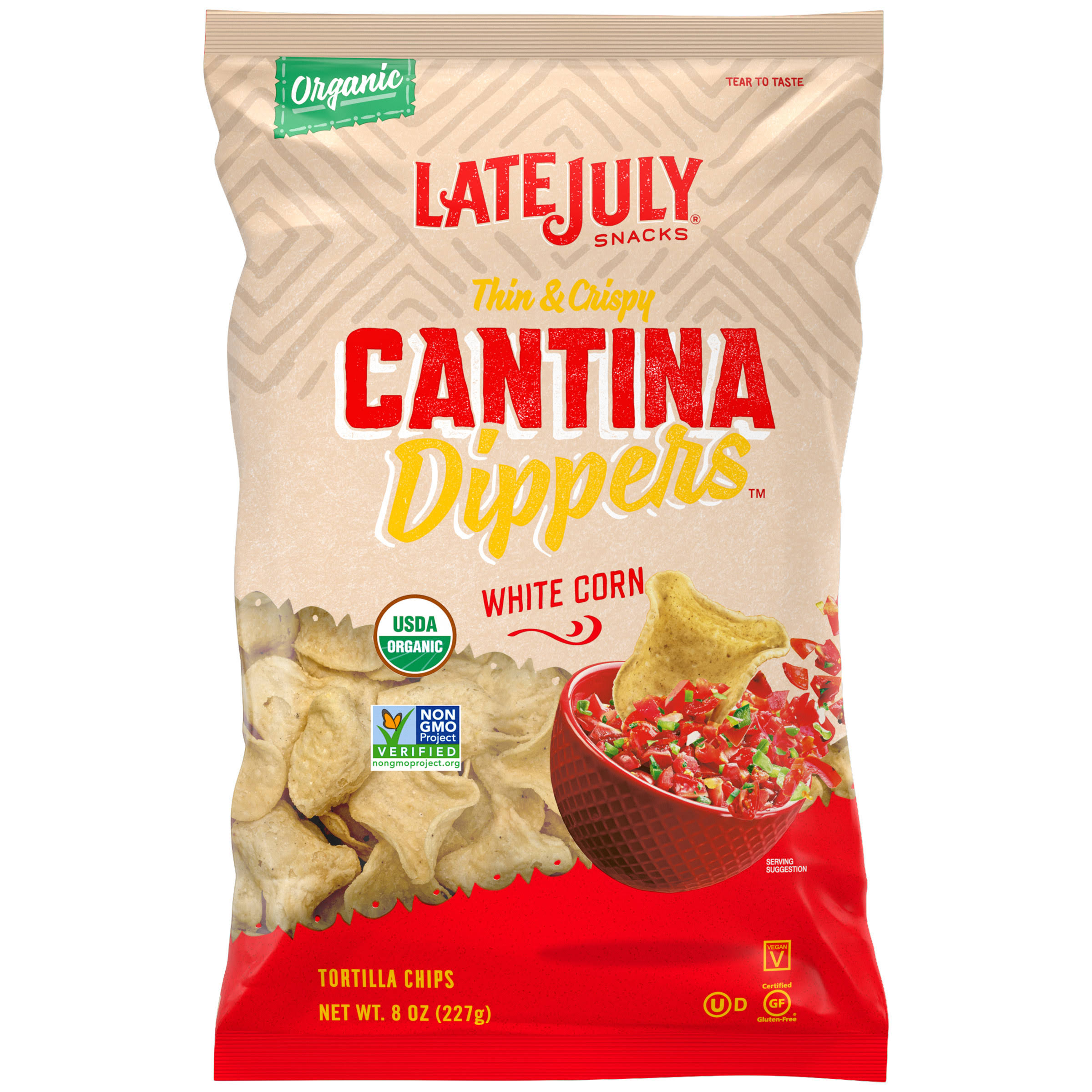 Late July Snacks Tortilla Chips Cantina Dippers White Corn - 227g