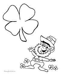 Preschool Leprechaun Coloring Pages