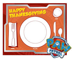 Coloring Pages Printable Paw Patrol Thanksgiving