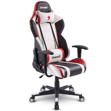 DESINO Gaming Chair Racing Style Home & Office Ergonomic Swivel Rolling  Computer Chair With Headrest And Adjustable Lumbar Support (White) 5 Best Gaming Chairs For The Serious Gamer Desino Chair Racing Style Home Office Ergonomic Swivel Rolling Computer With Headrest And Adjustable Lumbar Support White Bestmassage Pc Desk Arms Modern For Back Pain 360 Degree Rotation Wheels Height Recliner Budget Rlgear Every Shop Here Details About Seat High Pu Leather Designs Protector Viscologic Liberty Eertainment Video Game Backrest Adjustment Pillows Ewin Flash Xl Size Series Secretlab Are Rolling Out Their 20 Gaming Chairs