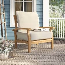 100 England Furniture Accent Chairs.html Birch Lane Heritage Summerton Teak Patio Chair With Cushions