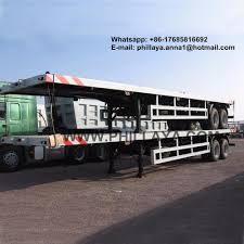 Phillaya 2-3 Axles 20FT 40FT Flatbed Container Trailer ...