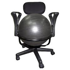Walmart Swivel Chair Hunting by Aeromat Low Back Deluxe Exercise Ball Chair Walmart Com