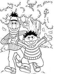 Sesame Street Coloring Pages Christmas Printable Halloween Page Birthday Full Size