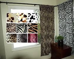 Animal print curtain