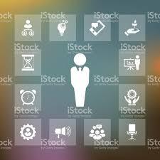bureau des ressources humaines ensemble de vecteur dicônes de ressources humaines illustration
