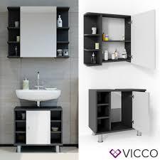 vicco badmöbel set fynn anthrazit weiß badezimmer spiegel waschtisch unterschrank bad badschrank
