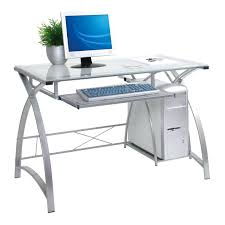 Tempered Glass Computer Desk by Glass Desks For Home Office Modern Glass Desk With Drawers Best