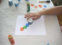 Stamping The Circle Caterpillar Craft