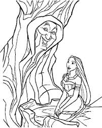 Pocahontas Coloring Pages With Grandmother Willow Tree