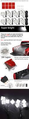 8PCS Truck Bed White LED Lighting Light Kit For Chevy Dodge GMC ...