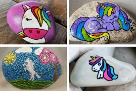 Learn How To Draw A Unicorn Or Paint On Rock