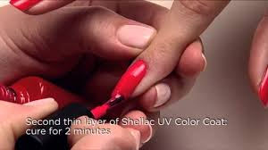 Cnd Uv Lamp Instructions by Cnd Shellac Application Tutorial Youtube