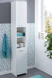 badschrank modern holz 30 5 x 190 x 30 cm weiß badezimmerschrank mit 2 türen beistellschrank mehrzweckschrank bad schrank schmal badezimmer