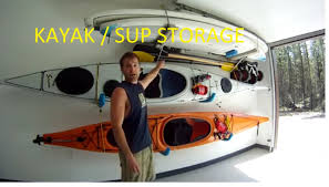 Garage Ceiling Kayak Hoist by Ultimate Diy Kayak Sup Storage System Youtube
