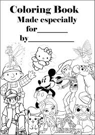 Disney Halloween Coloring Pages To Print by Coloring Page Covers Printable Coloring Book Cover Page