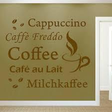 wandtattoo küche esszimmer kaffee zeit wandspruch