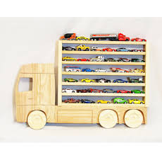 wooden hanging storage shelf for wheels and matchbox cars
