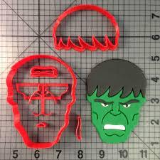 Incredible Hulk Pumpkin Stencil Free by Super Hero Cookie Cutters Jb Cookie Cutters