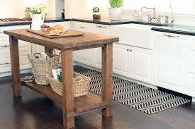 Image Of Reclaimed Wood Kitchen Island Rustic