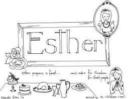 Book Of Esther Bible Coloring Page At Pages
