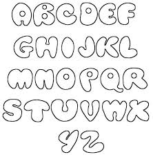Fonts Alphabet Printable Bubble A Z Graffiti