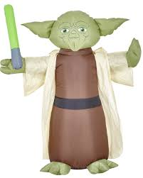 Airblown Inflatable Halloween Yard Decorations by 4ft Star Wars Master Yoda Jedi Knight Airblown Inflatable
