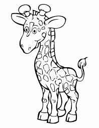 Tall Giraffe Coloring Page
