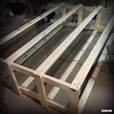 diy 2x4 shelving for garage or basement dadand com dadand com