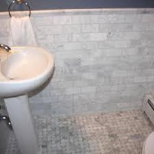 marble subway tile ensuite idea marble subway