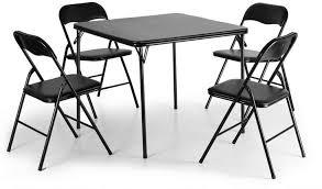Amazon.com - Lucidz Table & Chair Sets, Black Folding Card ...