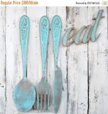 large wooden fork and spoon wall hanging large wood fork and spoon large kitchen decor upcycled