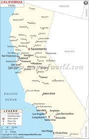 Map Of Major Cities California