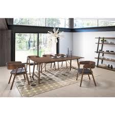 Modrest Oritz Mid Century Modern Walnut Dining Set