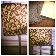 DIY Lamp Shade Cover Any Material You Desire And A Hot Glue Gun Simple