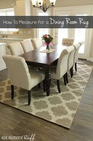 Standard Size Rug For Dining Room Table by Coffee Tables Rugless Dining Room Do I Need A Rug Pad On