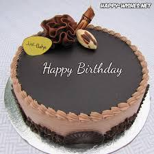 Beautiful Birthday Cake with chocolate cake