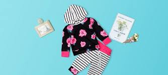 Pretty Striped Floral Hoodie And Pants Sets