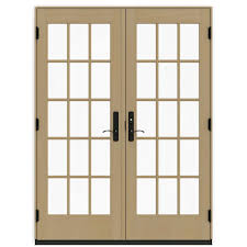 Anderson Outswing French Patio Doors by Andersen 60 In X 80 In 400 Series Frenchwood White Hinged