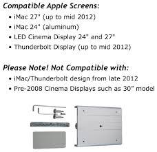 Imac Vesa Desk Mount by Amazon Com Vivo Adapter Vesa Mount Kit For Apple Imac Mid 2012
